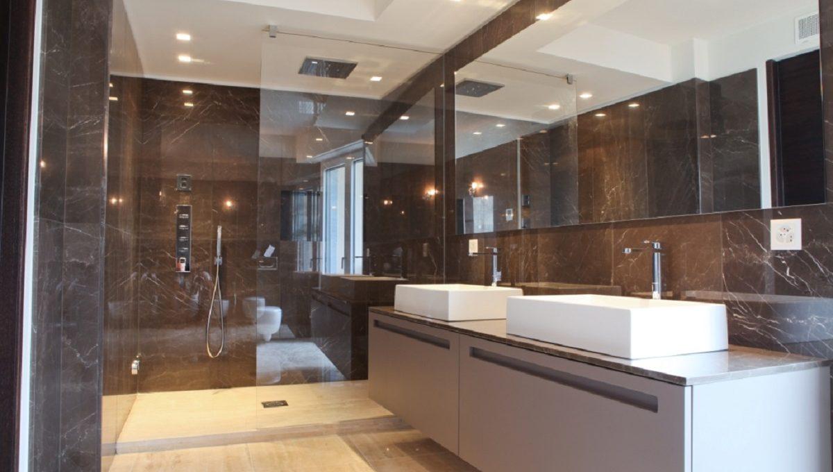 bathroom luxury flat in Lugano Swizterland