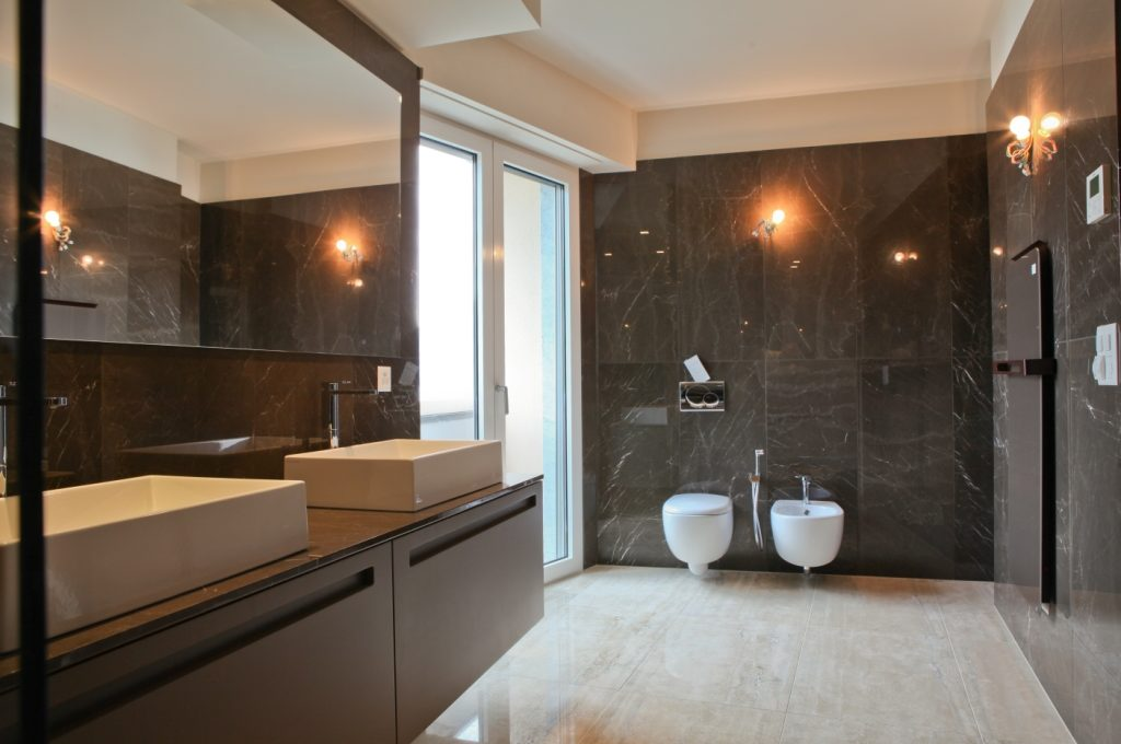bathroom luxury flat in Lugano Switzerland