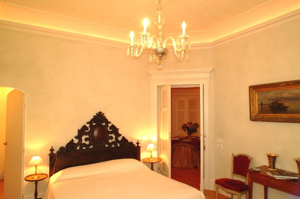 Bedroom with elegant forniture