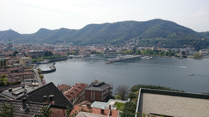 View of the city of Como and the Lake