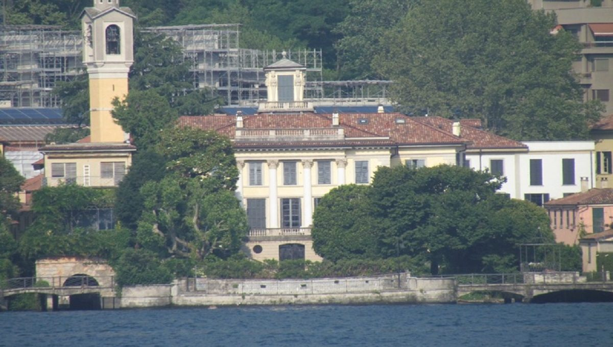 View of the villa from the other shore