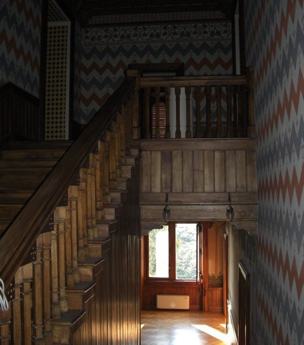 Ancient wooden stairs
