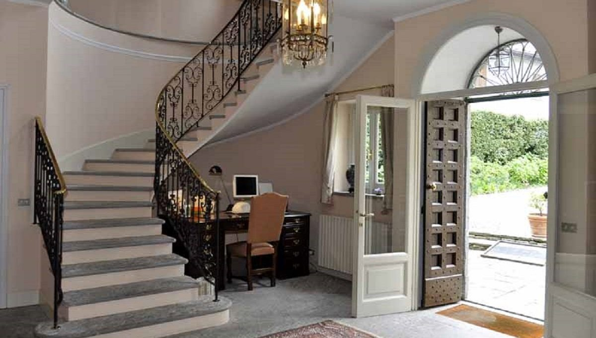 entrance and the beautiful stone stairs