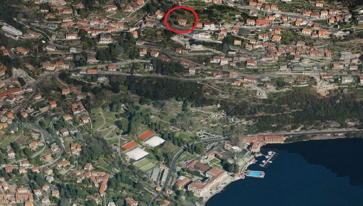 the villa in the map of Cernobbio