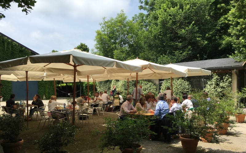 the restaurant of Agritourism for sale in the Province of Como Brianza
