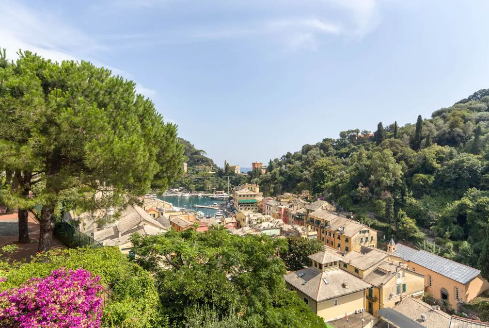 view from the gorgeous villa for sale in Portofino