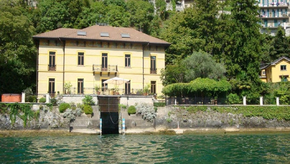 view of the villa from lake como