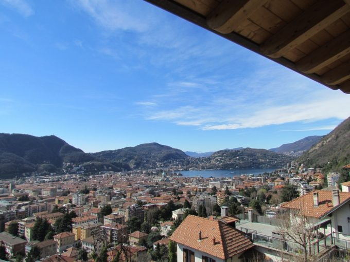 Como city view apartment panoramic terrace lakeview