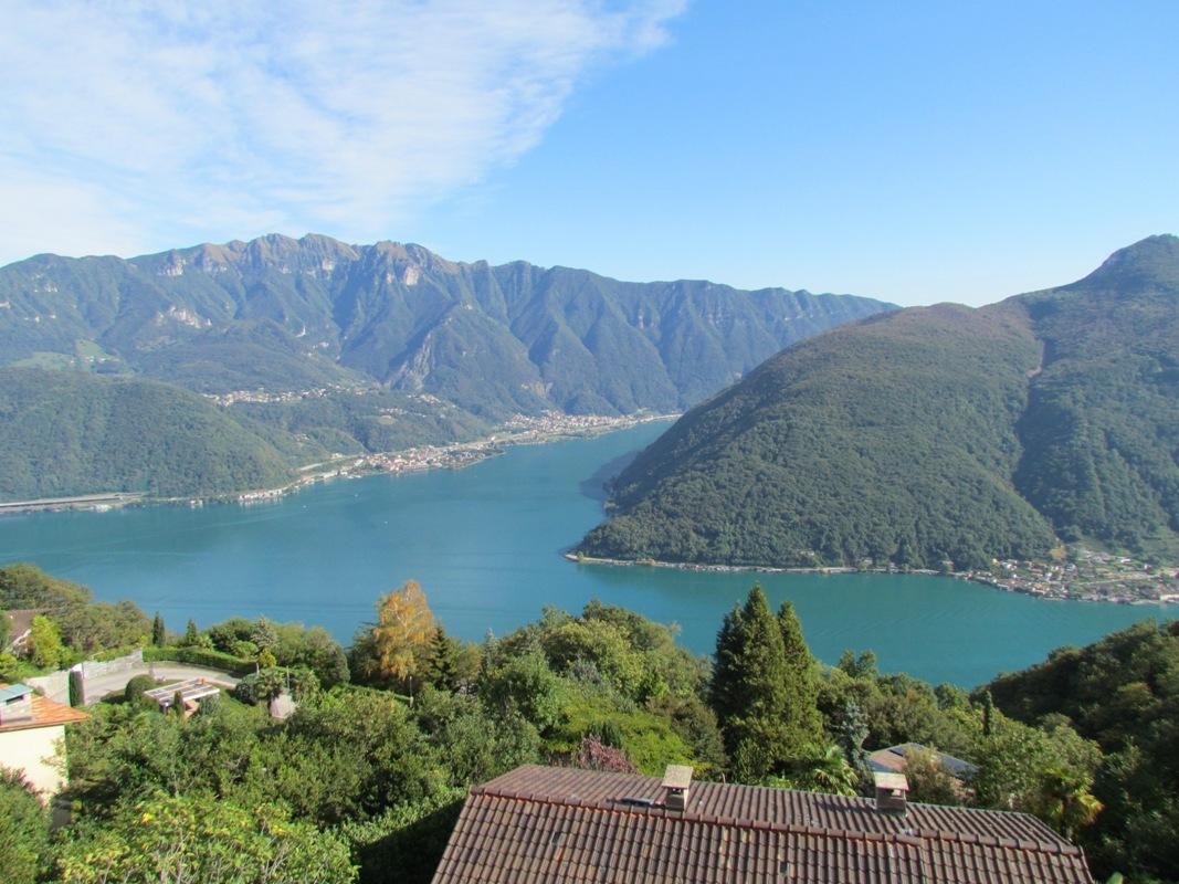Lugano Carona lake view villa