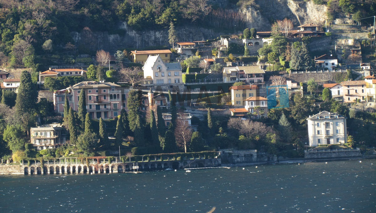 view of the villa from the lake